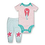 Lamaze® Newborn 2-Piece Organic Cotton Mermaid Bodysuit and Pant Set