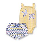 Lamaze® Size 3M 2-Piece Organic Cotton Bluebirds Bodysuit and Short Set
