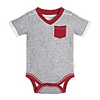 Burts Bee's Baby® Size 6-9M Short Sleeve V-Neck Bodysuit in Heather Grey