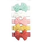 Curls & Pearls 5-Pack Mini Bow Knit Headbands