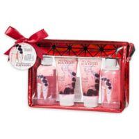 Freida & Joe Rose Champagne Blackberry Bath & Body Gift Bag in Red