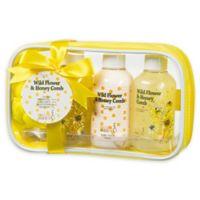 Freida & JoeWild Flower & Honey Comb Spa Bag Gift Set in Yellow
