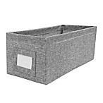 E-Z Do Textured Canvas Accessory Storage Bin in Grey