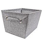 E-Z Do Medium Textured Canvas Storage Bin in Grey