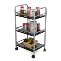 Mind Reader 3-Tier Metal Kitchen Trolley in Silver