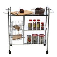 Mind Reader Metal 3-Tier Kitchen Cart in Silver