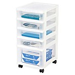 IRIS® 5-Drawer Storage Cart in White