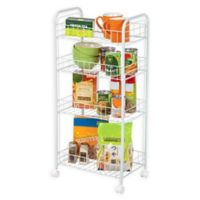 IRIS® 4-Tier Wire Cart in White