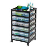 IRIS® 6-Case Scrapbook Cart in Black
