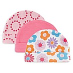 Luvable Friends® Size 0-6M 3-Pack Caps in Pink