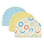 Luvable Friends® Size 0-6M 3-Pack Caps in Yellow