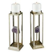 Sterling Industries Ekaterina Candle Holders in Purple (Set of 2)