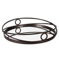 Kate and Laurel Delray Round Mirrored Tray in Bronze