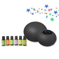 ZAQ Kids' Sky Projector/Essential Oil Diffuser with 6-Piece Aromatherapy Oils Set in Black