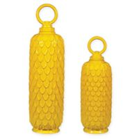 Sterling Industries Lidded Ceramic Jars in Sunshine Yellow (Set of 2)