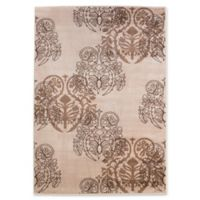 Linon Home Milan Collection Abstract Area Rug in Ivory