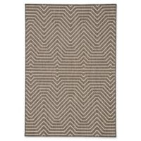 Jaipur Prima 7'6 x 9'6 Indoor/Outdoor Area Rug in Dark Grey/Cream