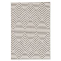 Jaipur Prima 7'6 x 9'6 Indoor/Outdoor Area Rug in Light Grey/Black