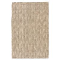 Jaipur Living Alix Chevron 2' x 3' Handcrafted Accent Rug in Taupe/White