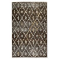 Kaleen Tiziano Diamond Repeat 1'10 x 3' Accent Rug in Chocolate