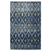 Kaleen Tiziano Diamond Repeat 5'3 x 7'3 Area Rug in Denim