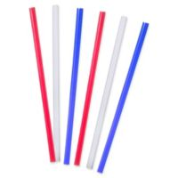 Tervis® 6-Pack 10-Inch Straight Drinking Straws in Red, White & Blue