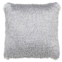 Safavieh Soleil Shag Square Indoor/Outdoor Throw Pillow in Silver