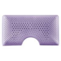 Malouf Zoned Dough Shoulder Cut Queen Side Sleeper Pillow in Purple