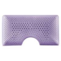 Malouf Zoned Dough Shoulder Cut Queen Side Sleeper Pillow in Purple