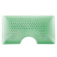 Malouf Shoulder Zoned Dough® Queen Memory Foam Pillow with Peppermint in Green