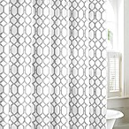 Tommy Bahama® Shoretown Trellis Shower Curtain in Grey