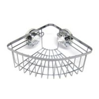 Wire Corner Suction Shower Caddy in Chrome