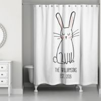 Designs Direct Sweet Bunny Shower Curtain