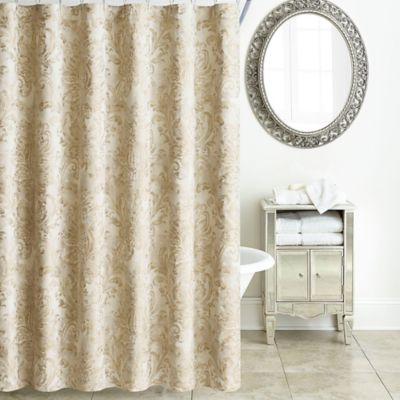Waterford Annalise Shower Curtain In Gold