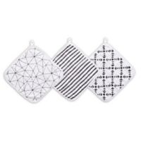 aden® by aden + anais® 3-Pack Criss Cross Washcloths in Black/White