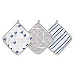aden® by aden + anais® 3-Pack Denim Wash Washcloths in Grey/Blue