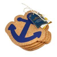 Kate Aspen® Anchor Cork Coasters (Set of 4)
