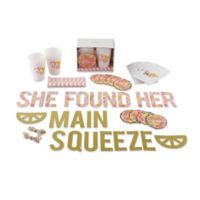 "Kate Aspen® 49-Piece ""She Found Her Main Squeeze"" Party Kit in Yellow/Pink"