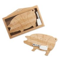 Kate Aspen® 2-Piece Farmhouse Pig Cheeseboard and Spreader Gift Set