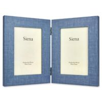 Siena 2-Photo Weathered Wood Frame in Blue