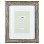 Siena 8-Inch x 10-Inch Weathered Wood Matted Frame in Taupe/Grey
