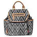 SKIP*HOP® Grand Central Take it All Backpack Diaper Bag in Zebra Black