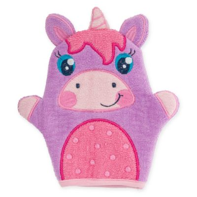 Stephen Joseph® Unicorn Bath Mitt In Purple