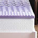 Lucid 2-Inch Memory Foam Queen Mattress Topper in Purple
