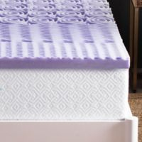 Lucid 2-Inch 5-Zone Lavender-Infused Memory Foam Twin XL Mattress Topper in Purple