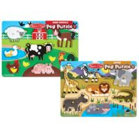 Melissa & Doug® World of Animals Peg Puzzle Bundle