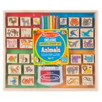 Melissa & Doug® Deluxe Wooden Animals Stamp Set