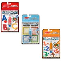 Melissa & Doug® Alphabet, Numbers and Color & Shapes Water Wow Bundle