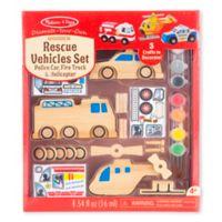 Melissa & Doug® Decorate Your Own Wooden Rescue Vehicles Set