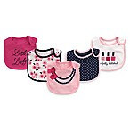 "Baby Vision® Little Treasures 5-Pack ""Perfectly Polished"" Bibs in Navy"